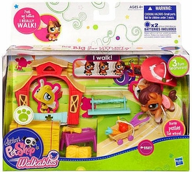 Littlest Pet Shop Walkables Playset #2257 Horse & Wagon