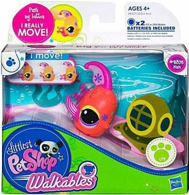 Littlest Pet Shop Walkables Figure #2376 Fish [Pink Fins]