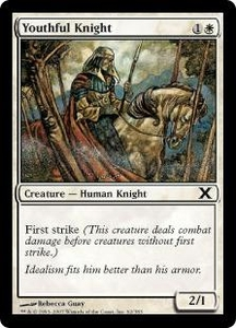 Magic the Gathering Tenth Edition Single Card Common #62 Youthful Knight