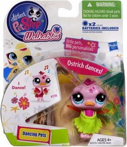 Littlest Pet Shop Walkables Dancing Figure Ostrich