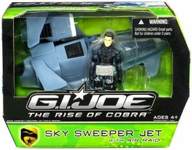 GI Joe Movie The Rise of Cobra Vehicle Sky Sweeper Jet with Air Raid Action Figure