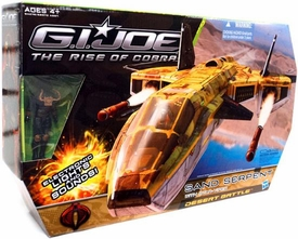 GI Joe Movie The Rise of Cobra Vehicle Sand Serpent with Star Viper Action Figure