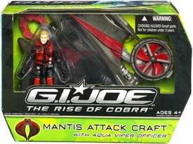 GI Joe Movie The Rise of Cobra Vehicle Mantis Attack Craft with Aqua-Viper Officer Action Figure