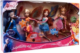 Winx Club Exclusive 11.5 Inch Doll 4-Pack Good Vs. Evil [Bloom, Steela, Flora & Icy]