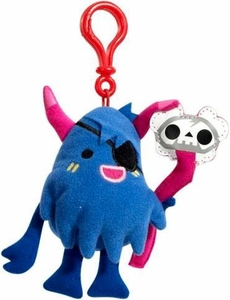 Moshi Monsters Moshlings Backpack Clip Plush Figure Big Bad Bill
