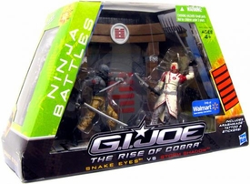 GI Joe Movie The Rise of Cobra Exclusive Ninja Battles Snake Eyes Vs. Storm Shadow
