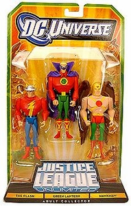 DC Universe Justice League Unlimited Exclusive Fan Collection Action Figure 3-Pack Flash, Green Lantern & Hawkman