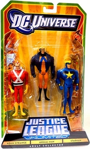 DC Universe Justice League Unlimited Exclusive Fan Collection Action Figure 3-Pack Adam Strange, Animal Man & Star Man