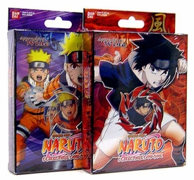 Naruto Card Game Set of Both Approaching Wind Theme Decks [Rampage Tornado Nauto & Blazing Flame Sasuke]
