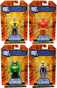 DC Universe Justice League Unlimited Exclusive Justice Guild Set of 4 Action Figures [Green Guardsman, Black Siren, Tom Turbine & Streak!]