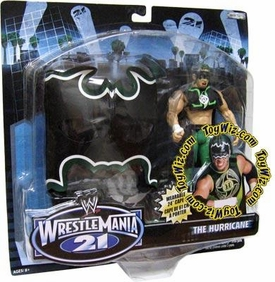 WWE Jakks Pacific Wrestlemania XXI 21 Series 3 Exclusive Signature Gear Hurricane Action Figure with Cape & Mask