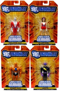 DC Universe Justice League Unlimited Exclusive Doom Patrol Set of 4 Action Figures [Negative Man, Robot Man, Elasti-Girl & Mento]