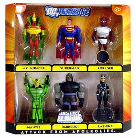 DC Universe Justice League Unlimited Exclusive Action Figure 6-Pack Attack From Apokolips [Mr. Miracle, Superman, Forager, Mantis, Darkseid & Lashina]