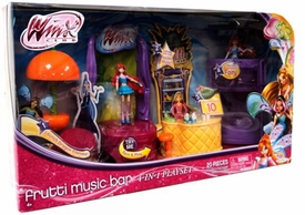 Winx Club 4-In-1 Playset Frutti Music Bar with Bloom 3.75 Inch Figure
