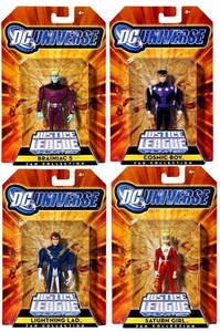 DC Universe Justice League Unlimited Exclusive Legion of Super Heroes Set of 4 Action Figures [Saturn Girl, Cosmic Boy, Lightning Lad & Braniac 5]