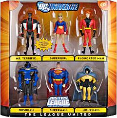 DC Universe Justice League Unlimited Exclusive Action Figure 6-Pack The League United [Superman, Supergirl, Mr. Terrific, Elongated Man, Obsidian & Hourman]