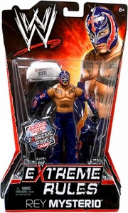 Mattel WWE Wrestling Extreme Rules PPV Series 10 Action Figure Rey Mysterio [Limited Edition 1 of 1000] BLOWOUT SALE! With Extreme Rules Chair!