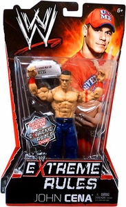 Mattel WWE Wrestling Extreme Rules PPV Series 10 Action Figure John Cena [Limited Edition 1 of 1000] with Extreme Rules Chair!