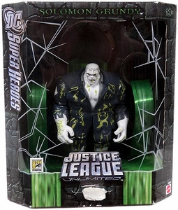 DC Super Heroes Justice League Unlimited Exclusive Action Figure Solomon Grundy [Slime Variant] Open Package! Mint Contents