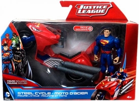Justice League Exclusive Vehicle & Figure Superman with Steel Cycle