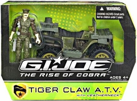 GI Joe Movie The Rise of Cobra Alpha Vehicle Tiger Claw ATV with Leatherneck Action Figure