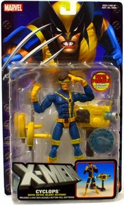 X-Men Toy Biz Action Figure Cyclops with Optic Blast Action