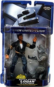 X-Men X2 Movie Super Poseable Action Figure Battle Attack Logan