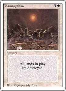 Magic the Gathering Revised Edition Single Card Rare Armageddon