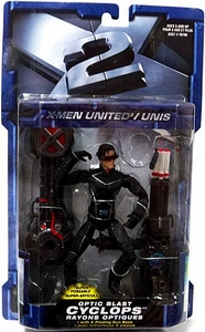 X-Men X2 Movie Super Poseable Action Figure Optic Blast Cyclops