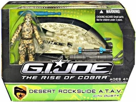 GI Joe Movie The Rise of Cobra Alpha Vehicle Desert Rockslide A.T.A.V. with Dusty Action Figure