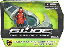 GI Joe Movie The Rise of Cobra Vehicle Polar Sharc Submarine with Icestorm Action Figure