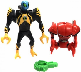 Ben 10 Alien Creation Chamber LOOSE Mini Figure 2-Pack Brainstorm & Lodestar