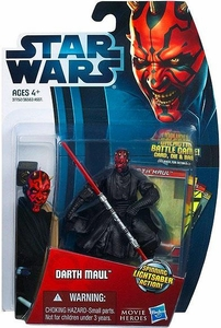 Star Wars 2012 Saga Movie Heroes Action Figure #5 Darth Maul {Version 1} [Spinning Lightsaber]