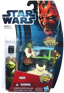 Star Wars 2012 Saga Movie Heroes Action Figure #9 Yoda [Lightsaber Attack]