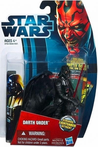 Star Wars 2012 Saga Movie Heroes Action Figure #6 Darth Vader {Version 1} [Slashing Lightsaber Attack]