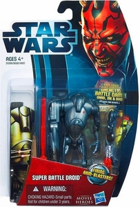 Star Wars 2012 Saga Movie Heroes Action Figure #2 Super Battle Droid [Firing Arm Blasters]