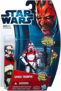 Star Wars 2012 Saga Movie Heroes Action Figure #1 Shock Trooper [Quick-Draw Action]