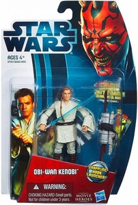Star Wars 2012 Saga Movie Heroes Action Figure #8 Obi-Wan Kenobi {Version 1} [Grappling Hook Launcher]