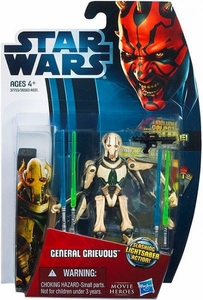Star Wars 2012 Saga Movie Heroes Action Figure #7 General Grievous [Slashing Lightsaber]