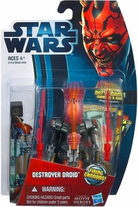 Star Wars 2012 Saga Movie Heroes Action Figure #12 Destroyer Droid [Firing Cannons]