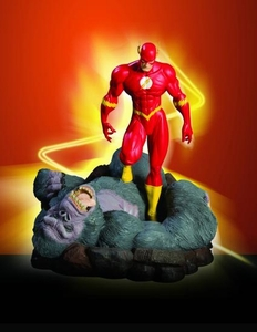 Flash vs Gorilla Grodd Mini Statue