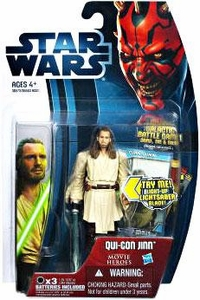 Star Wars 2012 Saga Movie Heroes Action Figure #18 Qui-Gon Jinn {Version 2}