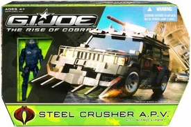 GI Joe Movie The Rise of Cobra Vehicle Steel Crusher A.P.V. with Nitro Viper Action Figure