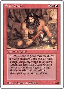 Magic the Gathering Revised Edition Single Card Uncommon Stone Giant