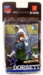 McFarlane Toys NFL Sports Picks Legends Series 6 Action Figure Tony Dorsett (Dallas Cowboys) White Jersey