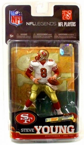 McFarlane Toys NFL Sports Picks Legends Series 6 Action Figure Steve Young (San Francisco 49ers) White Jersey