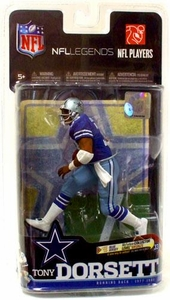 McFarlane Toys NFL Sports Picks Legends Series 6 Action Figure Tony Dorsett (Dallas Cowboys)  Royal Blue Jersey Bronze Collector Level Chase Only 2,000 Made!