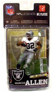 McFarlane Toys NFL Sports Picks Legends Series 6 Action Figure Marcus Allen (Oakland Raiders) White Jersey Silver Collector Level Chase Only 1,000 Made!