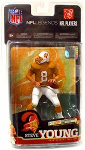 McFarlane Toys NFL Sports Picks Legends Series 6 Action Figure Steve Young (Tampa Bay Bucaneers) Orange Jersey SilverCollector Level Chase Only 500 Made!