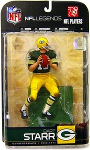 McFarlane Toys NFL Sports Picks Legends Series 5 Action Figure Bart Starr (Green Bay Packers) Green Jersey